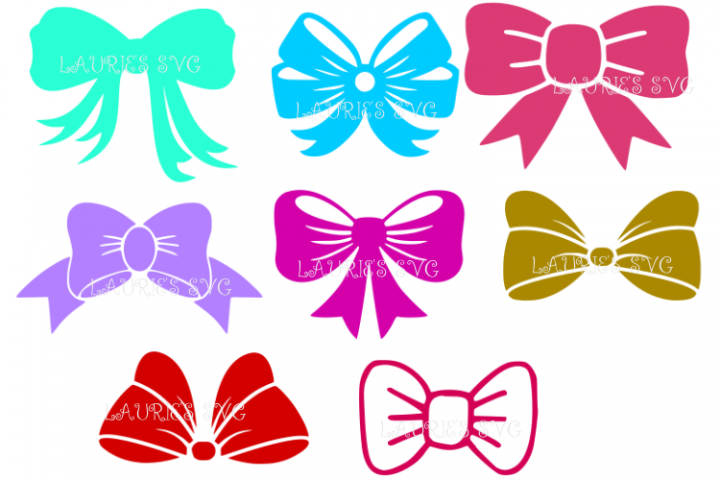 BOWS SVG,EPS,DXF,PNG,JPG
