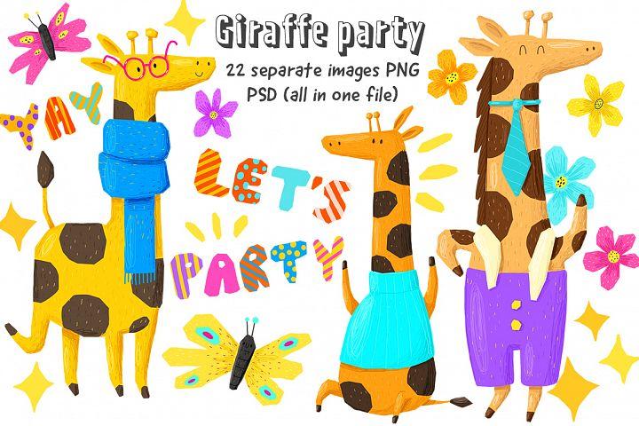 Set of giraffes