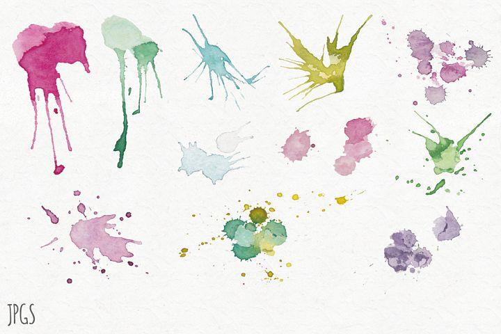 Watercolor Splatters example 3