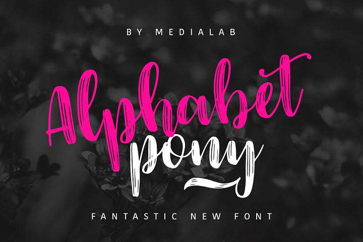 Alphabet Pony - Free Font of The Week