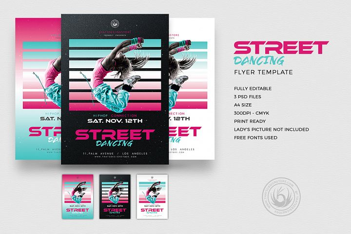 Street Dancing Flyer Template