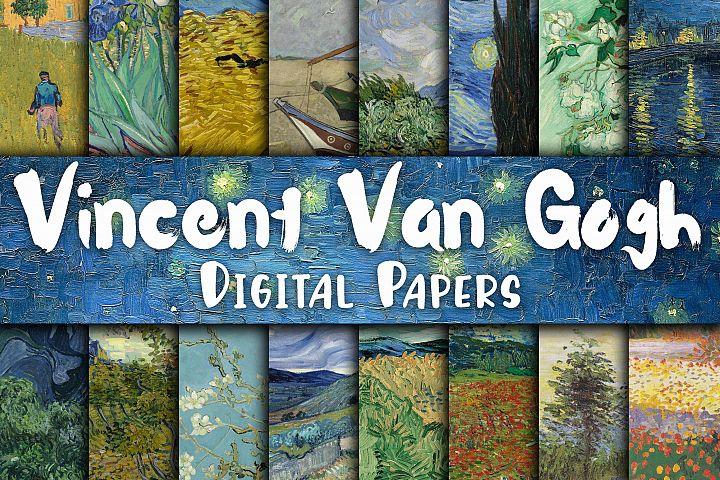 Vincent Van Gogh Paintings Digital Papers