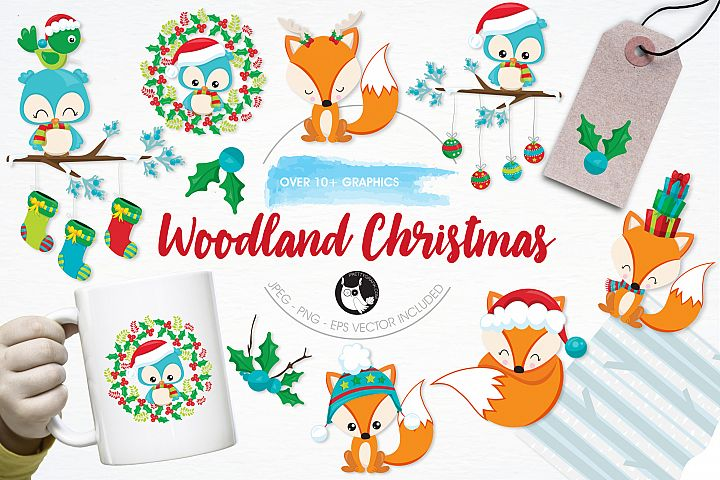 Woodland Christmas  graphics and illustrations