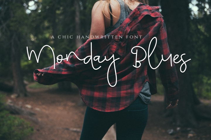 Monday Blues - Chic Handwritten Font