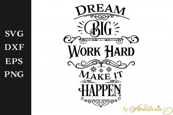 Dream big SVG Cut File