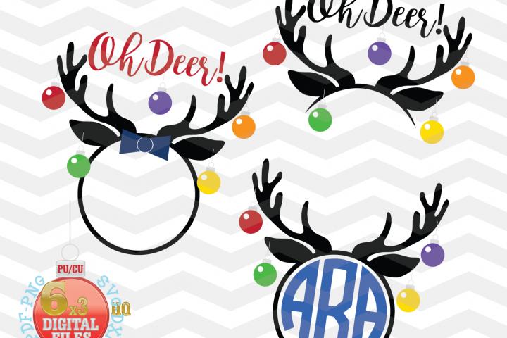 Reindeer SVG - Christmas reindeer SVG - Reindeer Monogram Svg - Reindeer Cut Files - Reindeer Svg - Christmas SVG - Xmas svg - Cutting File - Deer Svg