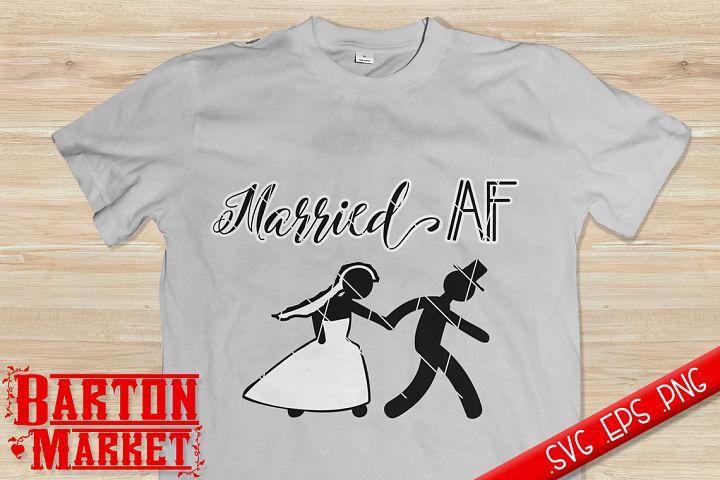 Married AF SVG / EPS / PNG