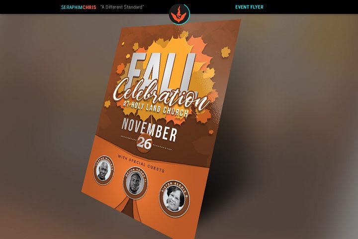 Fall Celebration Church Flyer Template
