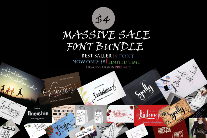 MASSIVE SALE FONT BUNDLE