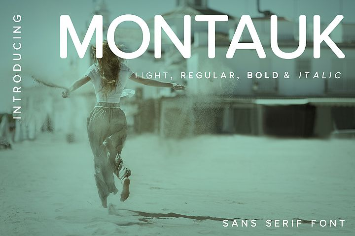 Montauk | Sans Serif Font Family