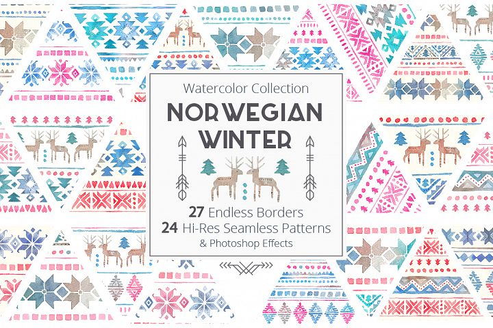 Norwegian Winter: Seamless Patterns