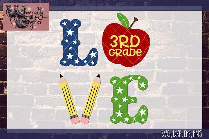 Love School Apple SVG, DXF, PNG, EPS Comm