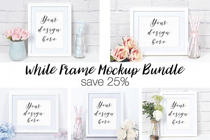 White Frame Mockup Photography Bundle