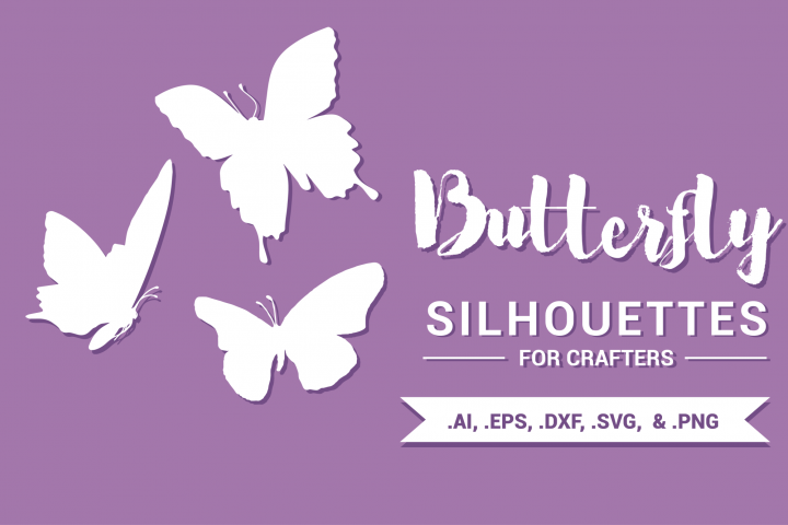 Butterfly Silhouettes for Crafters