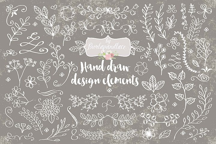 Hand draw design elements