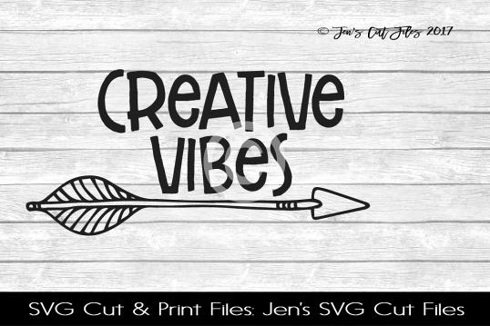 Creative Vibes SVG Cut File