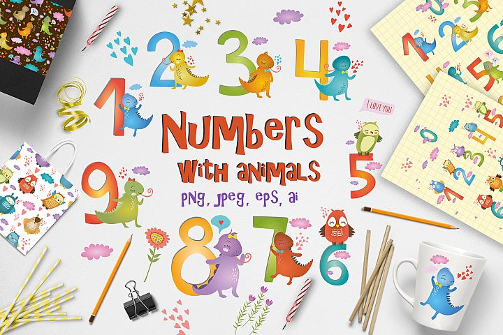 Numbers for kids with animals