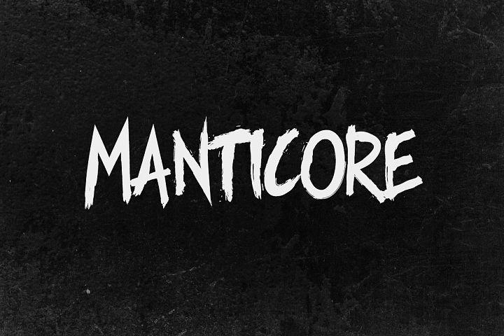 Manticore - Brush Font