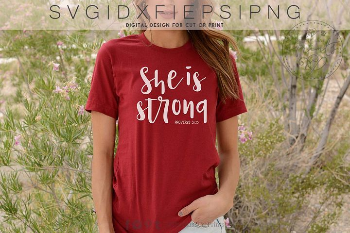 She is strong SVG DXF EPS PNG