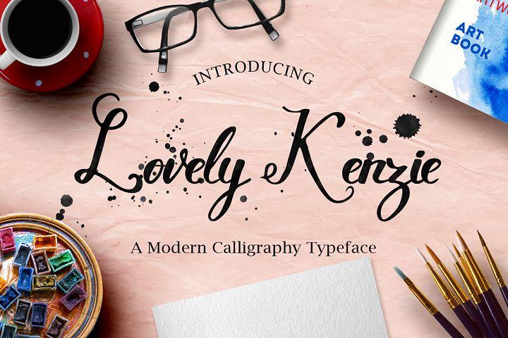 Lovely Kenzie Typeface