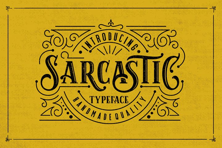 Sarcastic Typeface + Extras - Free Font of The Week
