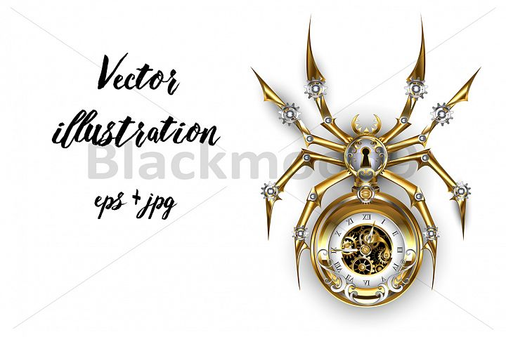 Spider with Clock ( Steampunk )