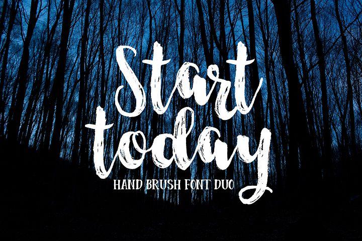 Start Today - Brush Font Duo
