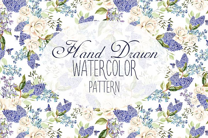 14 Hand drawn watercolor patterns