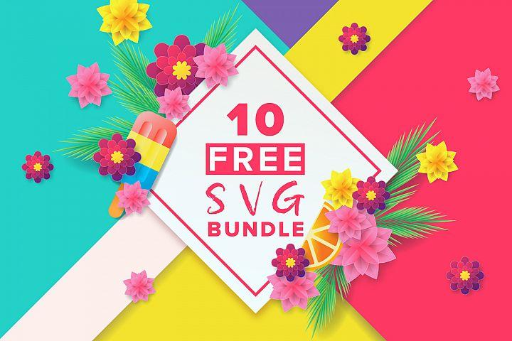 Ten Free SVG Bundle example 1