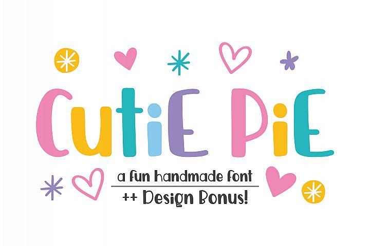 Cutie Pie Font ++ Designs Bonus!