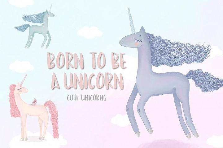 Born to be a unicorn. Illustrations