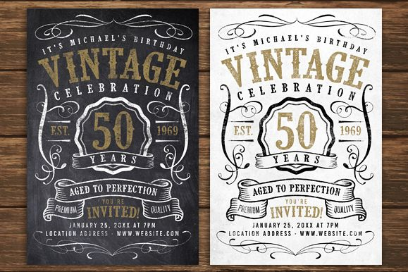 Chalk Vintage Birthday Flyer