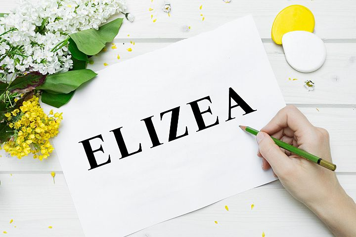 Elizea Font with 14 weights bundle