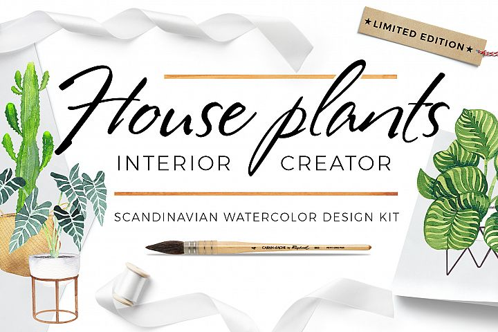 Scandi house plants interior creator