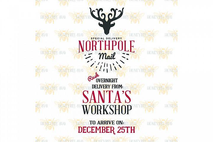 Northpole Santa Sack svg
