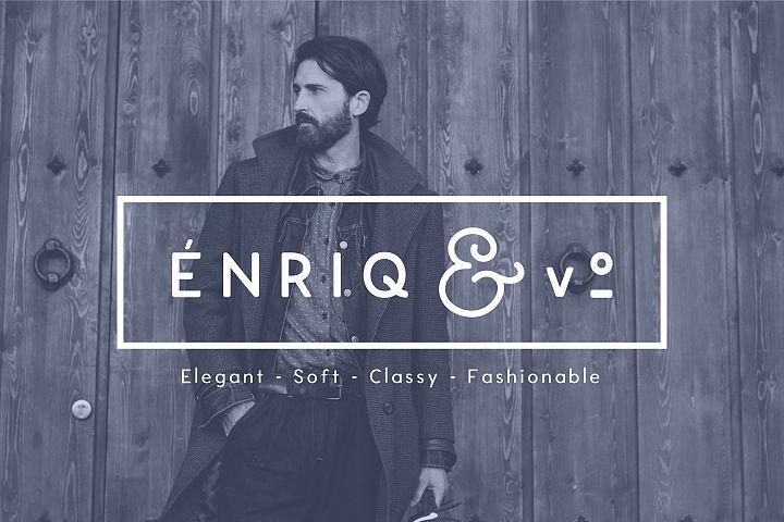 Enrique - 8 Fonts Fashionable Elegant Sans Serif Font