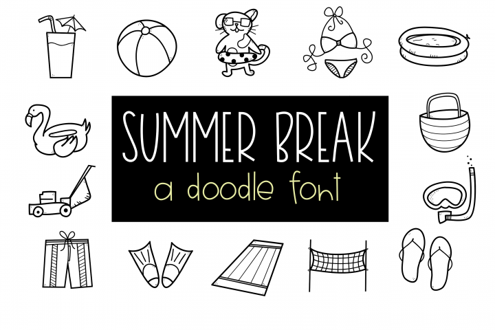 Summer Break / Summer Doodle Font