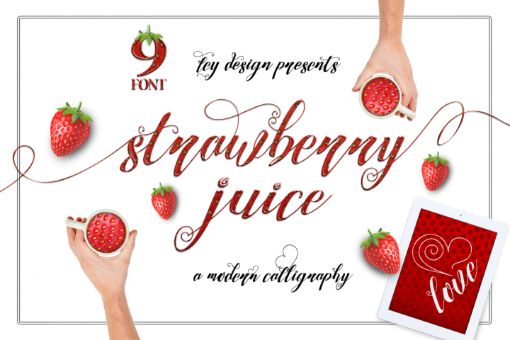 Strawberry Family - Free Font of The Week