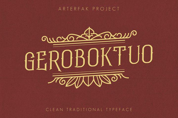 Geroboktuo Typeface