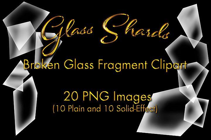 Glass Shards: Broken Glass Fragment Clipart