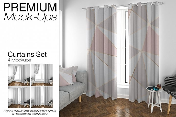 Curtains & Pillows Mockup Pack