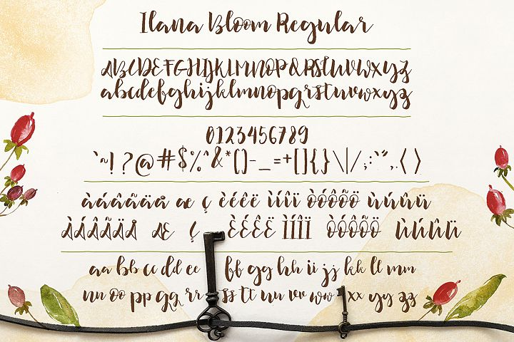 Ilana Bloom - Free Font of The Week Design 4