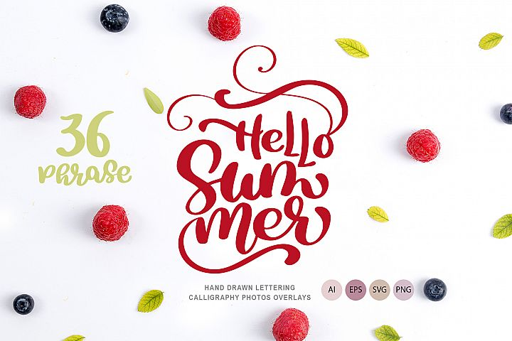 36 Calligraphic Phrases about Summer
