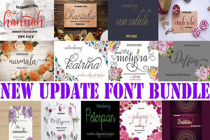 NEW UPDATE FONT BUNDLE