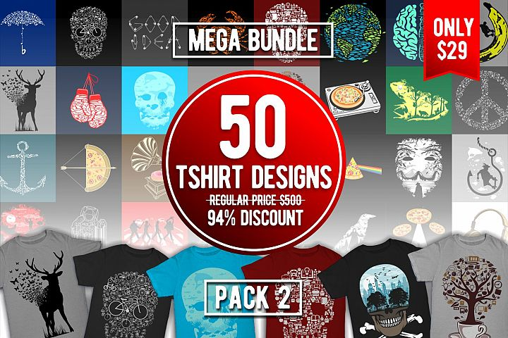 Tshirt Designs Mega Bundle Pack 2