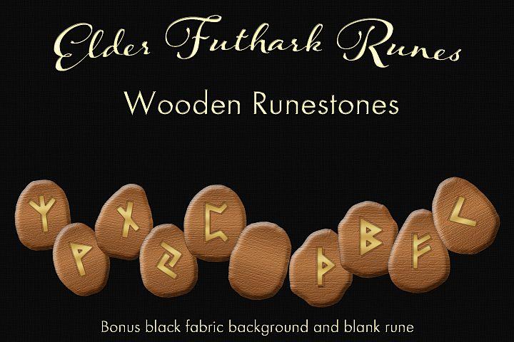 Elder Futhark Runes - Wooden Runestones