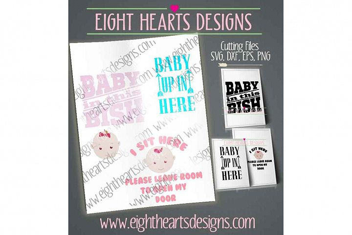 Baby On Board - 3 Designs - Excellent Baby Shower gift in SVG, DXF, EPS and PNG.
