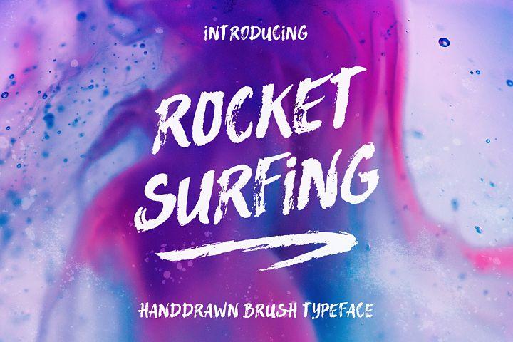 Rocket Surfing Font + Extras