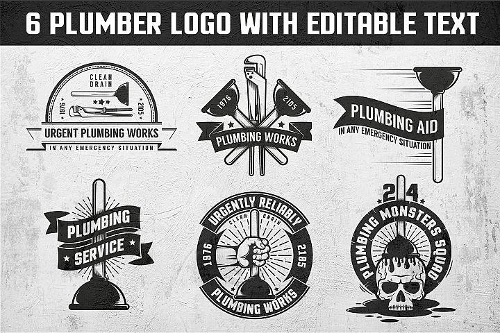 Plumbing retro logos