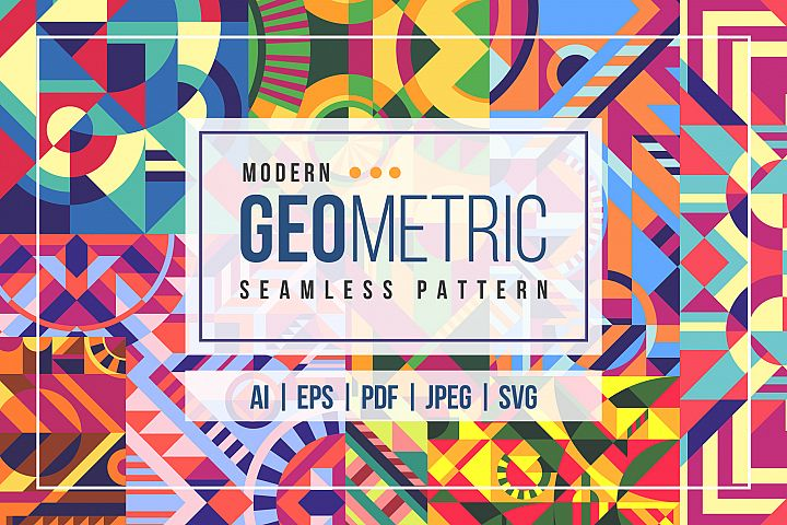 20 Modern Geometric Seamless Pattern